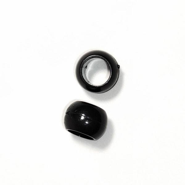 Cierre de Bola Plastico Negro